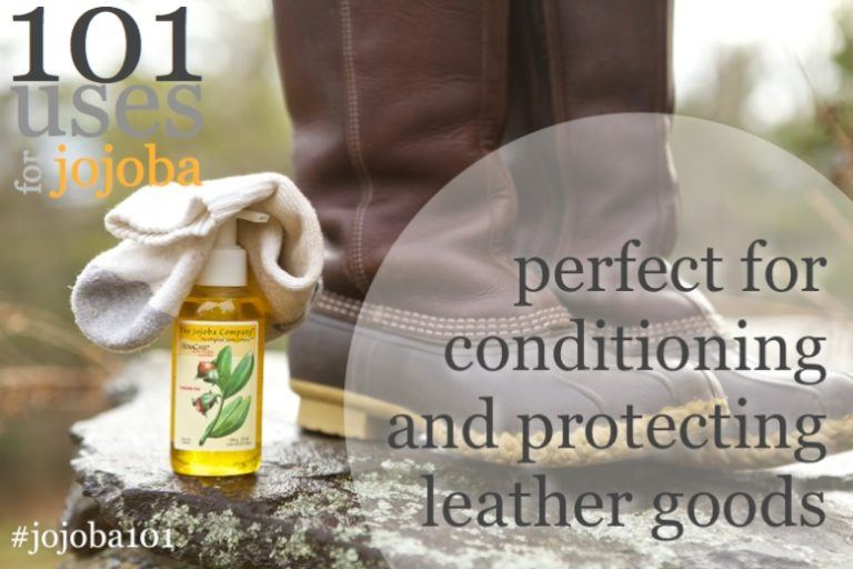 using jojoba to condition and protect leather goods