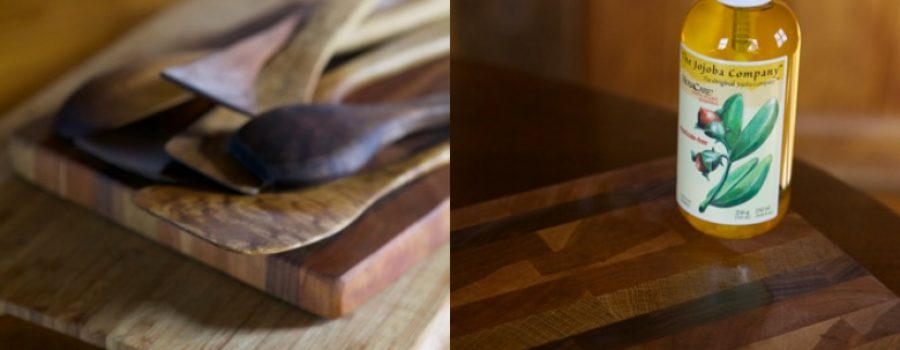 jojoba is safe to use on kitchen wooden utensils to protect and condition them