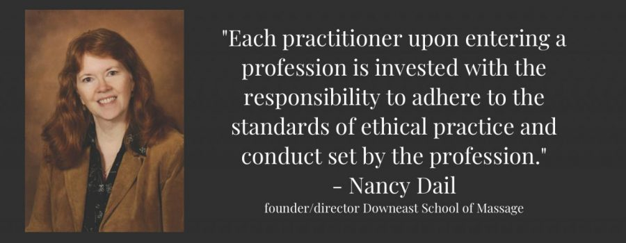 """""""Each practitioner upon entering a profession is invested with the responsibility to adhere to the standards of ethical practice and conduct set by the profession."""""""