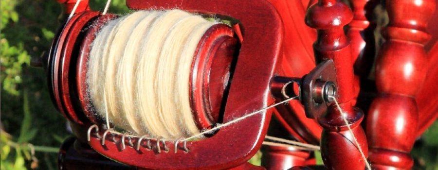 spinning wheel protected with jojoba